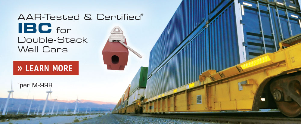 AAR-Certified IBC for Double-Stack Well Cars » LEARN MORE